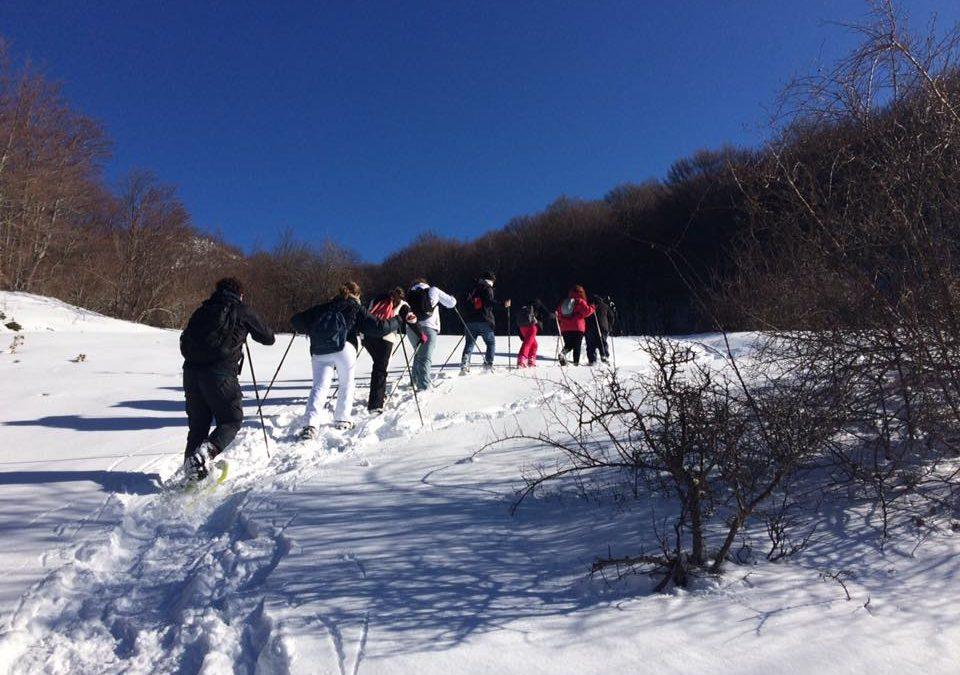 Sul Pollino week end sulla Neve all'insegna delle Ciaspolate